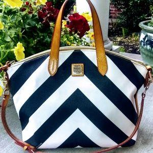 Dooney and Bourke Chevron Dome Satchel Handbag!